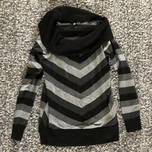 AB Studio striped sweater dress